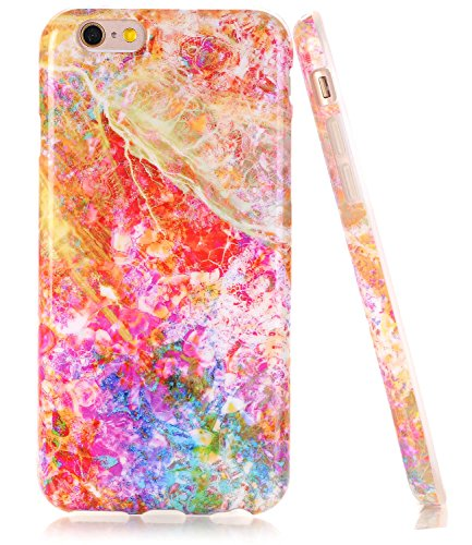 BAISRKE iPhone 6 6s Case, Opal Marble Creative Design Slim Flexible Soft Silicone Bumper Shockproof Gel TPU Rubber Glossy Skin Cover Case for iPhone 6 6s 4.7 inch