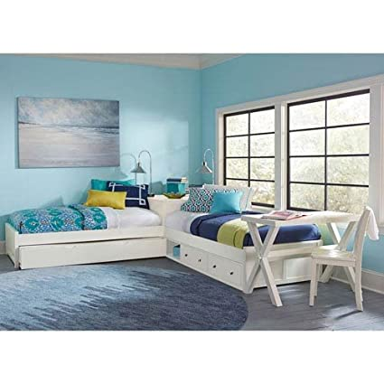 NE Kids Pulse Twin L Shaped Storage Bed With