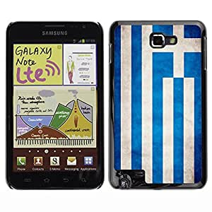 Shell-Star ( National Flag Series-Greece ) Snap On Hard Protective Case For Galaxy Note / i717 / T879 / N7000 / i9220