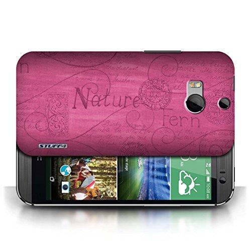 Etui / Coque pour HTC One/1 M8 / Rose conception / Collection de Motif Nature