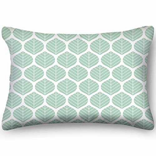 X-Large Zippered Pillow Covers Pillowcases Geometric Leaves Pattern Pillow Cases Cushion Cover for Home Sofa Bedding Bed Car Seats Decor 20 X 26 Inch
