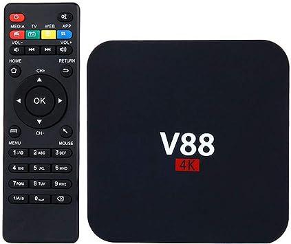 V88 4K Android 6.0 Smart TV Box RK3229 Quad Core 8 GB HD 1080P WIFI Media: Amazon.es: Electrónica