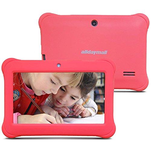 Alldaymall A88SK 7 Zoll Kinder Tablet PC Quad Core, Android 4.4 KitKat, 1GB RAM, 8GB NAND Flash mit Doppel Kamera und Wifi, Tablet für Kids mit Spezialangebot, Rosa