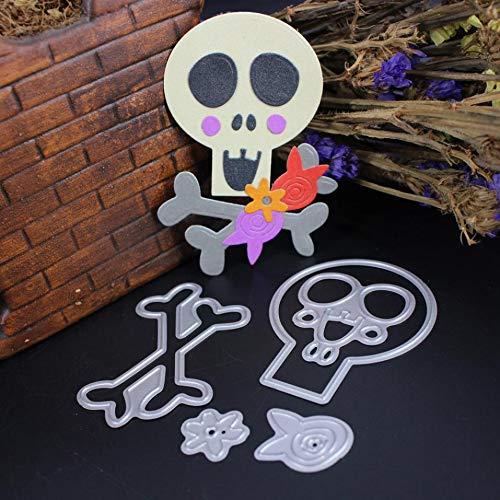 SaveStore Cutting Dies Stencil Frame Halloween Skull Ghost DIY Scrapbooking Embossing Album Paper Card Craft
