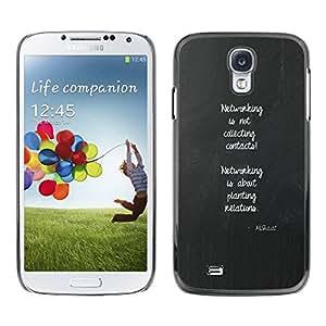 TopCaseStore / la caja del caucho duro de la cubierta de protección de la piel - Poster Inspiring Message - Samsung Galaxy S4 I9500