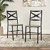 Cheap WE Furniture AZH18AI2AG Dining Chairs, Set of 2, Driftwood