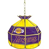NBA Los Angeles Lakers Tiffany Gameroom Lamp, 16''