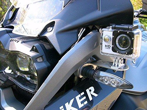 Aluminum Front Left Bracket Holder Cam Camera Mount for BMW R 1200 GS R1200GS 2013-2016 BMW R1200GS Adv Motorrad Gopro 4 5 - Adv 4 Cam