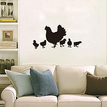 Fangeplus(TM) Chicken Family Hen And Chick DIY Removable Art Mural Vinyl  Waterproof Wall
