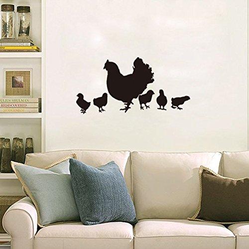 Fangeplus(TM) Chicken Family Hen and Chick DIY Removable Art Mural Vinyl Waterproof Wall Stickers Kids Room Decor Living Room Bedroom Decal Sticker Wallpaper 29.1''x14.1'' Vinyl Chicken