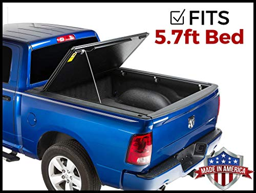 Gator Evo Hard Bi-Fold (fits) 2009-2018 Dodge Ram 5.7 FT Bed No RamBox ONLY Bi Folding Tonneau Truck Bed Cover (GC35006) Made in The USA (Also Fits 2019 Classic/Legacy Models) -