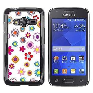 Be Good Phone Accessory // Dura Cáscara cubierta Protectora Caso Carcasa Funda de Protección para Samsung Galaxy Ace 4 G313 SM-G313F // Wallpaper Floral Pattern Colorful Spring Bloss