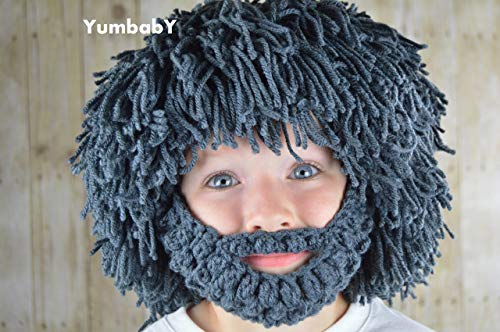 Beard Hat Bearded Wig Hobo Costume Halloween Costume Caveman wigs Costumes for Boys