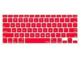 Kuzy - RED Keyboard Cover Silicone Skin for MacBook Pro 13