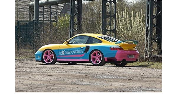 Classic y los músculos de los coches y bien Chip Tuning para coches manta-Porsche 996 Turbo (2002) coche Póster en 10 mil Archival papel satinado ...