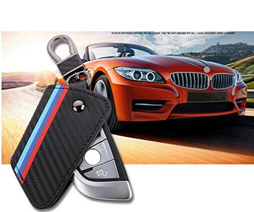 TRUST Carbon fiber leather Smart Remote Key Case Cover Ho...