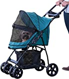 Pet Gear No-Zip Happy Trails Lite Pet Stroller for Cats Dogs - Zipperless Entry - Easy Fold with Removable Liner - Storage Basket + Cup Holder