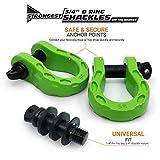 GearAmerica Mega Shackles Green (2PK) | 68,000 lbs