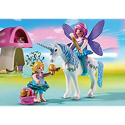PLAYMOBIL Fairies with Toadstool House: Toys & Games