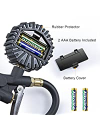 astroai Digital inflador de neumáticos con medidor de presión, 250 PSI