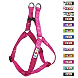 Pawtitas Reflective Step In Dog Harness or Reflective Vest Harness, Comfort Control, Training Walking of your Puppy/Dog Extra Small Dog Harness XS Pink Dog Harness