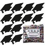Confetti Grad Cap Black - Half Pound Bag (8 oz) FREE SHIPPING --- (CCP8400)