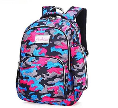 (J&B Kawaii Stylish Laptop Backpack School Backpack Bookbags College Bags Daypack camouflage (rose)