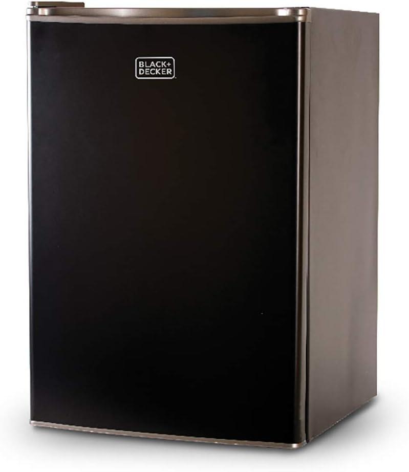 BLACK+DECKER BCRK25B Compact Refrigerator Energy Star Single Door Mini Fridge with Freezer, 2.5 Cubic Feet