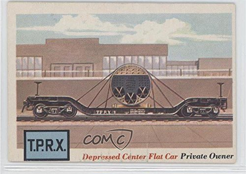 Depressed Center Flat Car (Trading Card) 1955 Topps Rails and Sails - [Base] #17 Depressed Center Flat Car