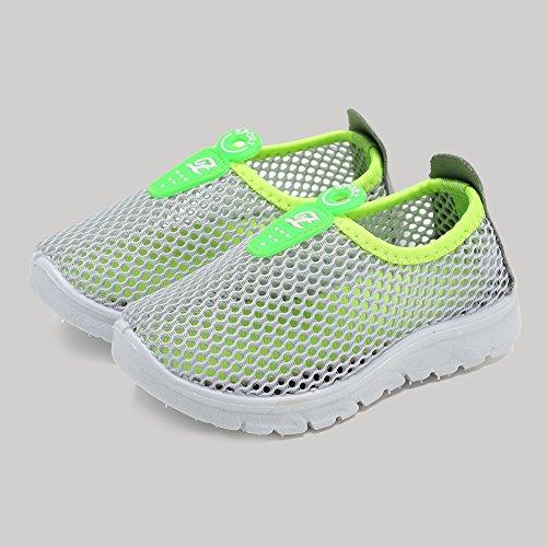 CIOR Kids Slip-on Breathable Sneakers For Running Beach Toddler / Little Kid,D110,Grey?36 5