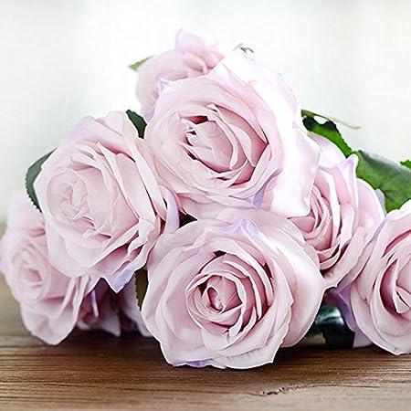 Mazzo Di Fiori In Francese.Tablar 10 Teste Di Rosa Fiore Artificiale Rosa Francese Mazzo Di