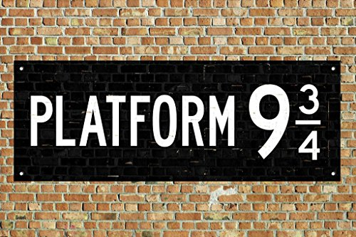 Laminated Train Platform 9 3/4 King Cross London Movie Sign Poster 18x12 inch