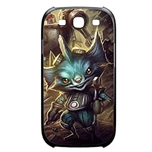 Rumble-001 League of Legends LoL For Case Samsung Galaxy Note 2 N7100 Cover Plastic Black