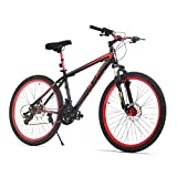 URSTAR 26″ Aluminum 24 Speed Mountain Bike with Front and Rear Disc Brakes (Black&Red) Review