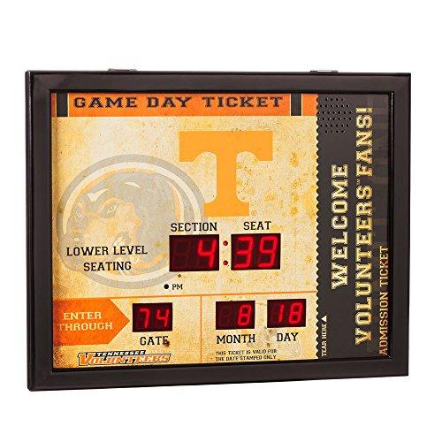 Team Sports America NCAA Bluetooth Scoreboard Wall Clock, Tennessee Volunteers