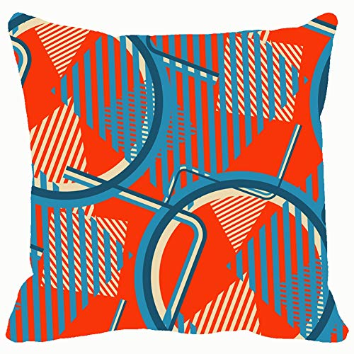 pop Art Colorful 70sthe Arts Throw Pillows Covers Accent Home Sofa Cushion Cover Pillowcase Gift Decorative 18x18 inches]()