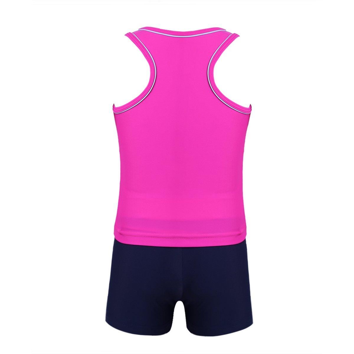 iEFiEL Little Girls Kids Summer Two Piece Boyshort Tops Tankini Kids Swimsuit Swimwear Set