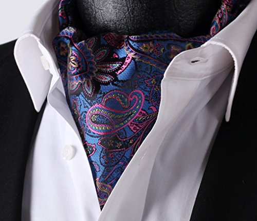 Pink Ascot Blue Floral Jacquard Men's Set Woven HISDERN 0RxqUpawn