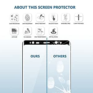 [2PACK] WANGCL Premium Anti-Scratch Tempered Glass Screen protector ,38mm Apple Watch Screen protector for Series 1, 2 & 3, [Only Covers the Flat Area]