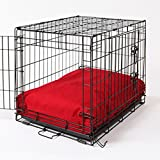 Crate Covers and More RECDOGRED22  Rectangular Dog Bed Set, Simply Red For Sale