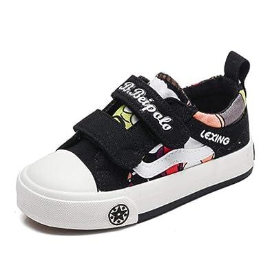 095ec246a9d9 cici shoes Kid s Classic Slip On Canvas Sneaker Tennis Shoes ( Black EU 33