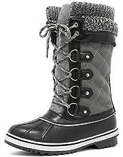 DREAM PAIRS Women's Monte_02 Winter Snow Boots