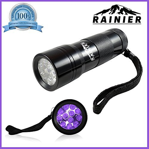 Rainier Blacklight Flashlight Pet Urine And Stains Detector 12 Led Bright Ult...