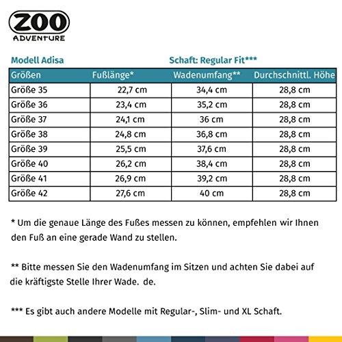 ZOO Adventure - Adisa - Wasserdichte Outdoorstiefel & Winterstiefel aus Leder für Damen Grau 007