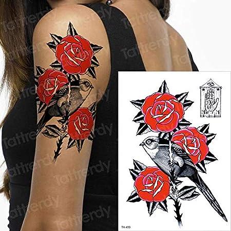 tzxdbh Etiqueta engomada del Tatuaje Mujer Tatuaje Temporal Mangas ...