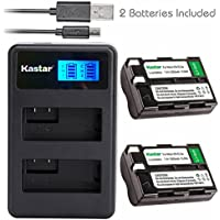 Kastar Battery (X2) & LCD Dual Slim Charger for Nikon EN-EL3a, ENEL3A, EN-EL3, ENEL3, MH-18, MH-18a and Nikon D50, D70, D70s, D100 Cameras