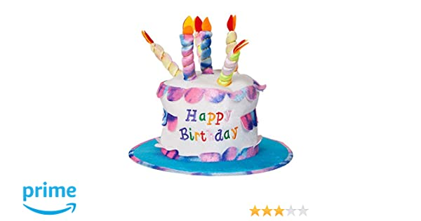 Amazon Adult Happy Birthday Cake Hat With Candles Fancy Dress Party Accessory Funny New Kitchen Dining