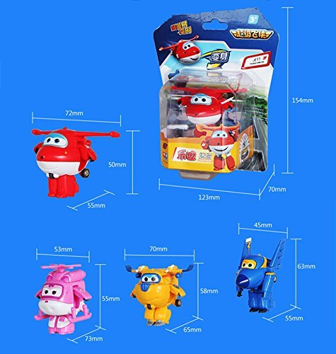 Amazon.com: 8PCS/Lot Super Wings Mini Planes Model Airplane Transformation Robot Brinquedos Action Figures Toys baby toys For Christmas gift: Toys & Games