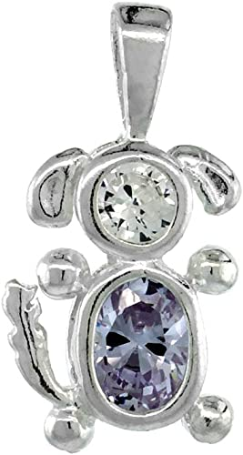 Jewelry Best Seller Sterling Silver /& Gold-plated June CZ Birthstone Key 18in Necklace