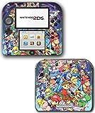#7: Super Smash Bros Mario Pikachu Link Zelda Samus Pokemon Go Ash Donkey Kong Video Game Vinyl Decal Skin Sticker Cover for Nintendo 2DS System Console